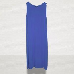 Eileen Fisher Georgette Crepe Midi Dress US L